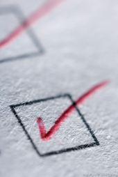 close-up of checkmark